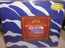 Zebra-Purple & White-Twin Size 3 Pc Regal Sheet Set,800 TC Deep Pocket Free 2 US