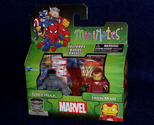 Marvel MiniMates Best of Series 3 GREY HULK & IRON MAN MARK 29 Figure 2 PK