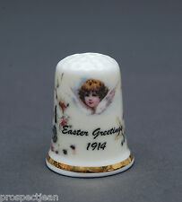 """""""SPECIAL OFFER"""" WW1 Easter Greetings 1914 China Thimble B/128"""