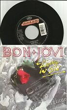 BON JOVI Living is Sin w/ UNRELEASED TRK Love is War 7 INCH Vinyl 45 USA 1988