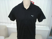 Puma Golf LTD Edition Funky 7 Button Gents Polo Shirt Black RRP £59.95