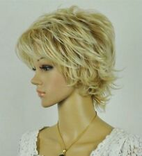 Sexy New Blonde Mixed Short fluffy Curly Women Female Lady Hair wig/Wigs #j101