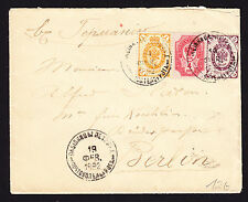 Russia Russian 1892 cover to Berlin Germany Brief Lettre Enveloppe Russland Env