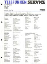Telefunken Service Manual für RT 200