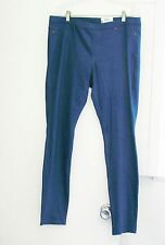 HUE Womens Original Denim Leggings Corsair U13360H Sz L - NWT