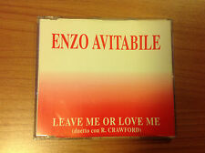 CDs PROMO RARO ENZO AVITABILE LEAVE OR LOVE ME (R. CRAWFORD) EMI 1994 CZU1