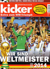 Kicker Extra zum WM-Triumph - WM 2014 - German FIFA World Cup Souvenir Magazine
