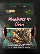 Lees Mealworms Dish Reptile Food Bowl Reptiles Worm