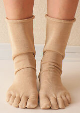 Women's five finger toe socks wild silk natural silk made in Japan TSN-201A