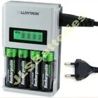 1 Hour FAST LCD Mains BATTERY CHARGER for 4 AA or AAA Ni-Mh Ni-Cd EU PLUG