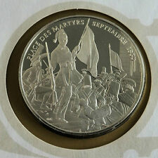 BELGIUM 1975 ARCHITECTURAL HERITAGE 38mm HALLMARKED SILVER PROOF MEDAL - cover