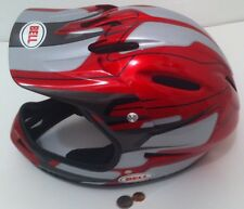 Nice Red BELL Dirt Bike Motorcycle Helmet, Quad, ATV, DOT, Size Medium, Fullface