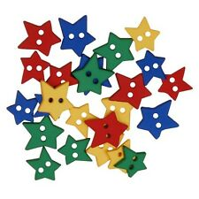 Blumenthal Lansing Favorite Findings Buttons - QTY 23 - PRIMARY STARS - No. 761