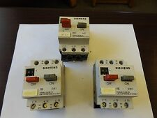 WHOLESALE LIQUIDATION SIEMENS MOTOR PROTECTOR LOT OF 3 SEE DETAILS
