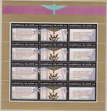 MARSHALL ISLANDS  : 1987 American Constitution sheetlets(3) SG 122-30 x 4 MNH