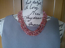 "BNWT 662 CARATS PINK RED RHODOCHROSITE & SOLID 925 STERLING SILVER 19"" NECKLACE"