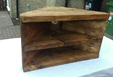 Corner Rustic Pine TV Unit solid wood stand/cabinet - rustic pine wax finish