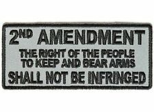 2nd Amendment Shall Not Be Infringed GREY MC Gun NRA Biker Vest Patch PAT-3544