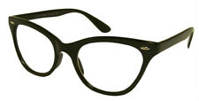 BLACK CAT EYE Frames Clear Lens Glasses Geek Nerd Vintage Retro Style #RF1167