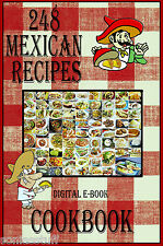 248 Delicious Mexican Food Recipes E-Book Cookbook CD-ROM