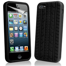 Apple iphone 5 Black Tyre Case Cover Rubber