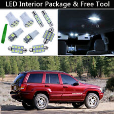 10PCS Pure White LED Interior Car Lights Package kit Fit Jeep Grand Cherokee J1