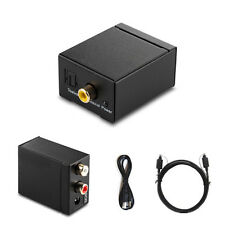Koaxial Toslink Digital zu Analog Audio Konverter Wandler Adapter RCA L/R Kabel