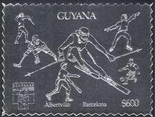 Guyana 1992 SILVER/Olympic Games/Sport/Fencing/Football/Ice Hockey 1v s/a n42892