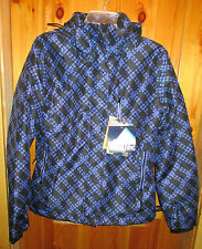 NEW ICEBURG Purple & Black Pattern WEATHER TECH JACKET SKI SNOW COAT Small