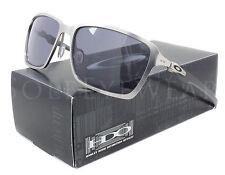 NEW Oakley 6017-01 Tincan Carbon Chrome / Grey Sunglasses