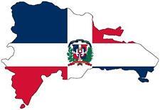 Adesivi adesivo moto auto sticker bandiera decal mappa dominicana repubblica