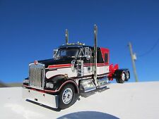 DCP 1/64 SCALE W900 KENWORTH FLAT TOP RED/ BLACK/ WHITE LONG WHEEL BASE