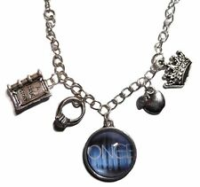 Once Upon A Time Glass Dome Pendant Necklace With 4 Metal Charms