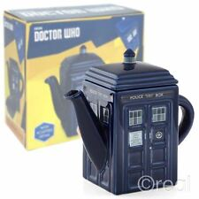 New Doctor Who Ceramic TARDIS Teapot Tea Official Licensed