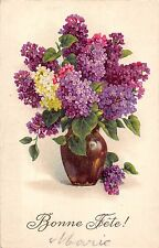 Happy Birthday Bonne Fete Flowers in Vase