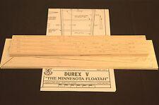 """Large Scale Slope Glider DUREX V Laser Cut Short Kit, Plans & Instruction 135""""WS"""