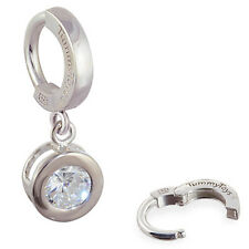 TummyToys Silver Bezel Set Round CZ Belly Button Ring Sexy snap on body jewelry