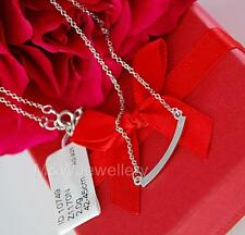 CHAIN NECKLACE PURO AMORE & ZIRCONIA SOLID 925 STERLING SILVER RHODIUM PLATED