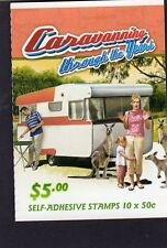 2007 AUSTRALIAN STAMP BOOKLET CARAVANNING YEARS 1960's 10 x 50c STAMPS MUH