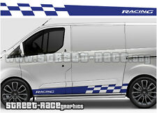 Ford Transit CUSTOM side racing stripes 008 graphics stickers decals