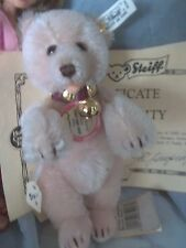 Rare HTF VINTAGE Pink Teddy Baby Bear old toy all id coa le 1000