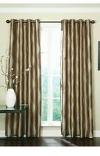 Set of 2 Franklin Swirl Pattern Latte Brown Fully Lined Grommet Panel 50 x 84