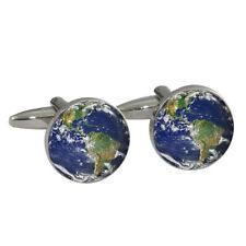 Planet Earth Cufflinks Gift Boxed home blue 3rd rock BNIB