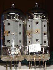 Very Strong Matched Pair of Rca 7868 Vacuum Tubes 11,600 & 11,400µmhos