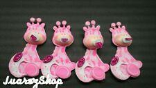 10 Baby Shower Pink Giraffe Decoration Foam Party Supplies Girl Favors