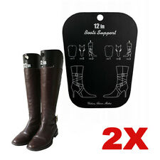 1 pair Reelable Long Boots Shoes Stand Holder Support Stretcher Shaper Black New