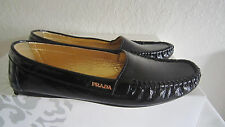 Prada Black Patent Leather  Driving Flat Loafers Moccasins Shoes 35 Us 5  $590