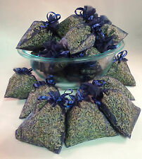 Set of 30 Lavender Sachets made with Navy Organza Bags