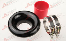 """NEW 4"""" BLACK UNIVERSAL VELOCITY STACK FOR COLD/RAM ENGINE AIR INTAKE/TURBO HORN"""