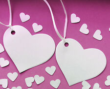 Wedding Heart tags with ribbon.Wishing trees.Quality White card 300 gsm